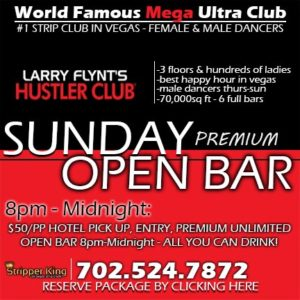 Hustler Club Las Vegas Open Bar Sunday